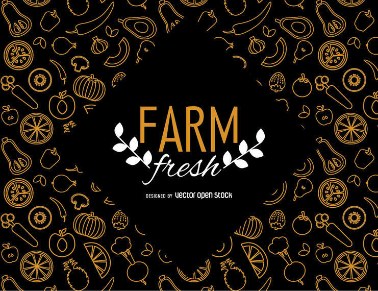 FARM FRESH WALLPAPER WITH VEGETABLES