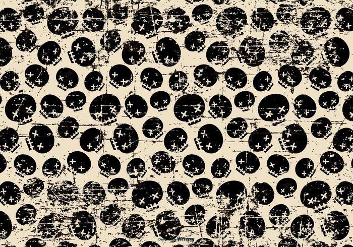 Grunge Halloween Skulls Background