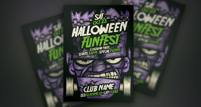 Franky Halloween Flyer Template