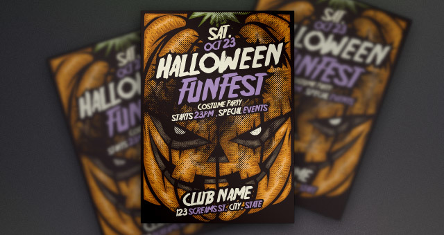 Pumpkin Halloween Flyer Template