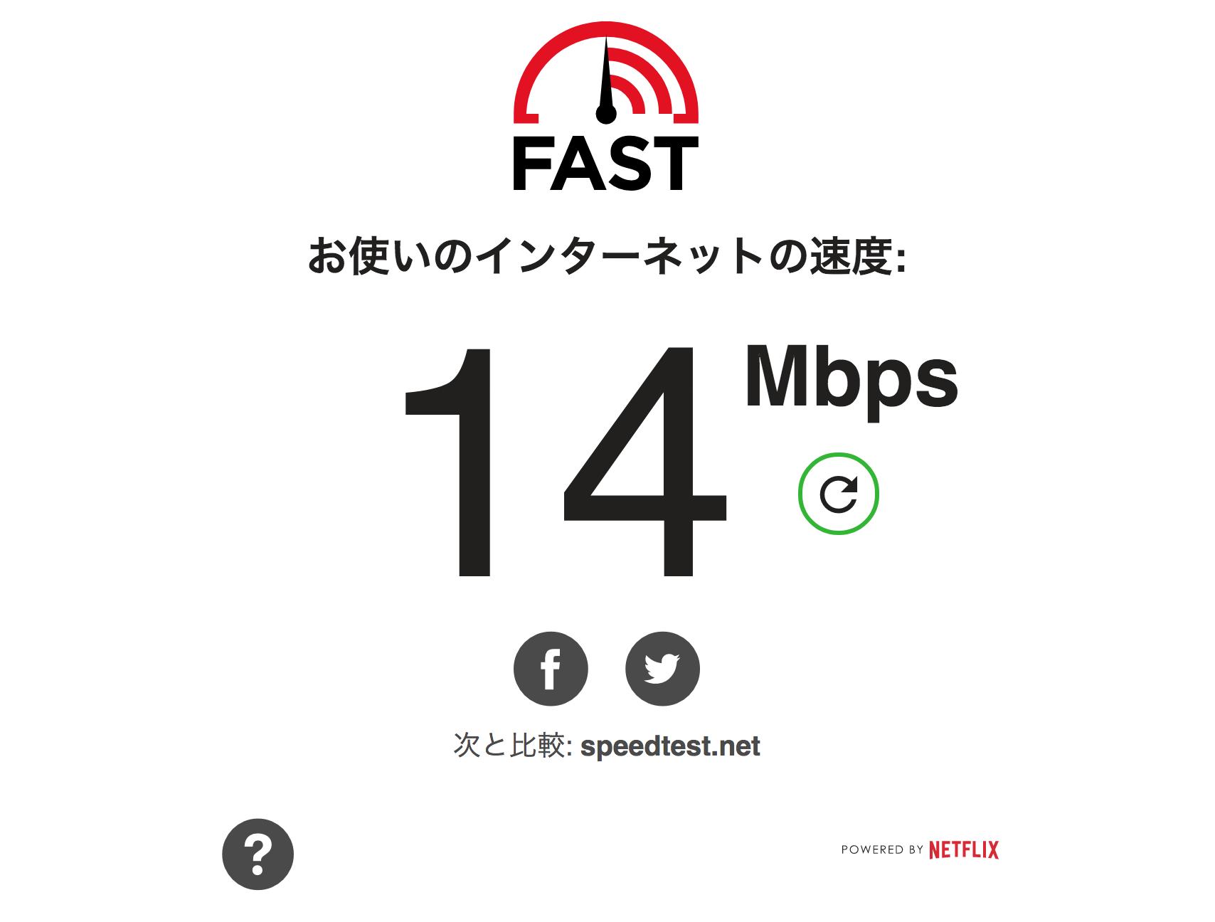 インタネット 速度