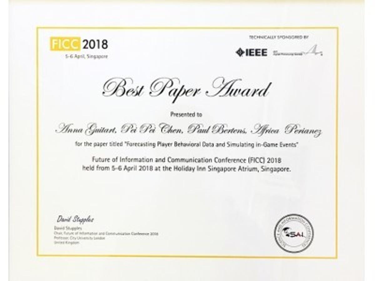 「機械学習エンジン『YOKOZUNA data』のデータサイエンティスト、FICC 2018で最優秀論文賞を受賞しIEEE論文集に収録予定」の見出し画像