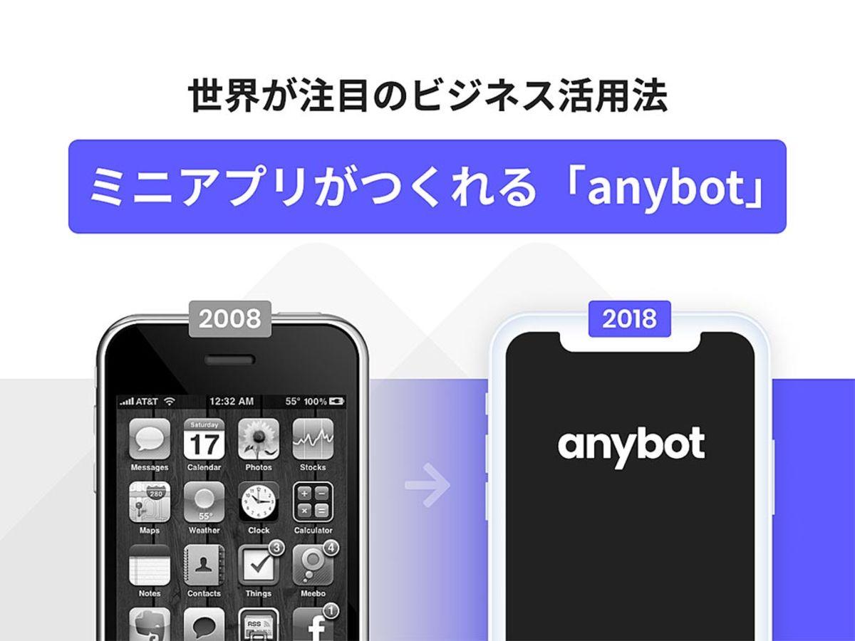 「世界もLINEも注目!Mini app(ミニアプリ)を「anybot」で作ってビジネスを活性化する方法とは」の見出し画像