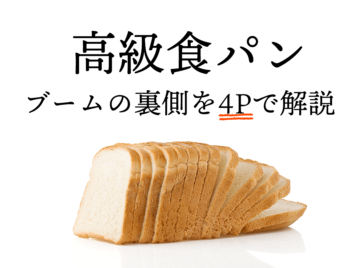 「高級食パンのブームはいつから?人気の秘密を4Pを使って徹底分析」の見出し画像