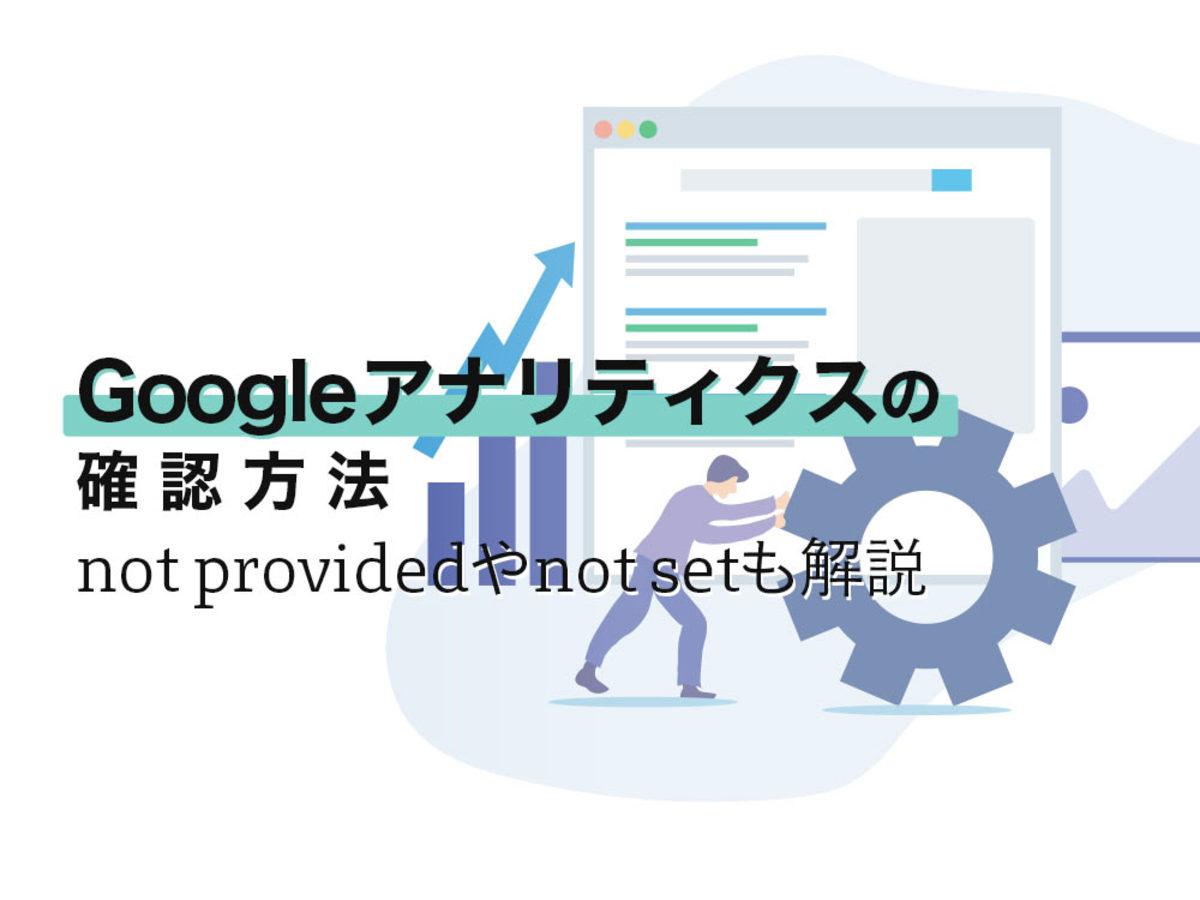 「Googleアナリティクスの検索ワードチェック方法|not providedやnot setも解説」の見出し画像