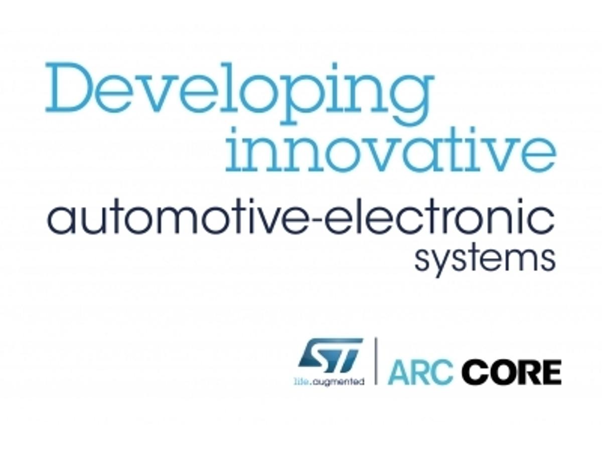 「STとARCCORE、車載組込みシステムの開発効率化に向け協力」の見出し画像