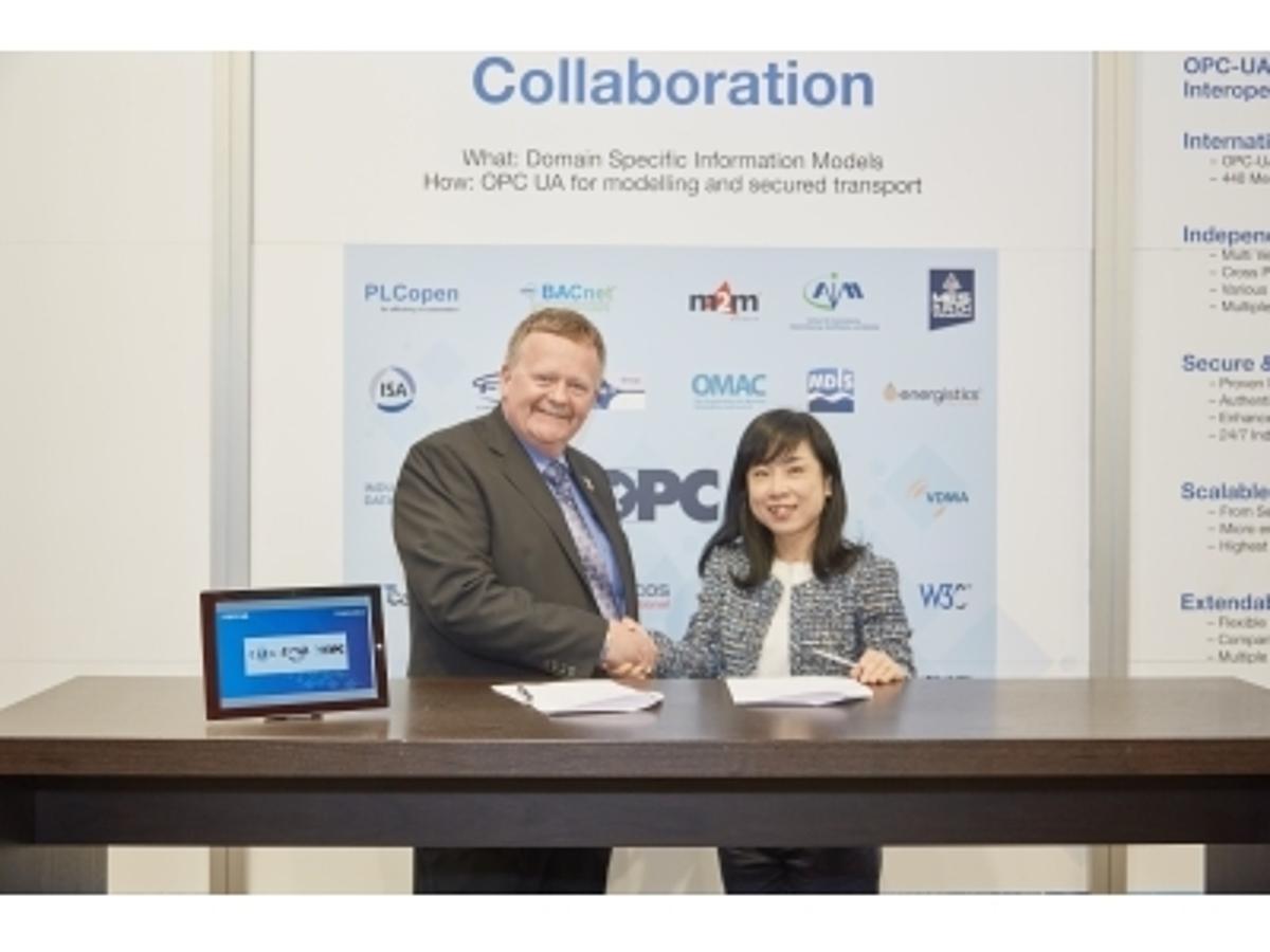 「OPC Foundation とCC-Link協会が、ハノーバフェアにてMoUを締結」の見出し画像