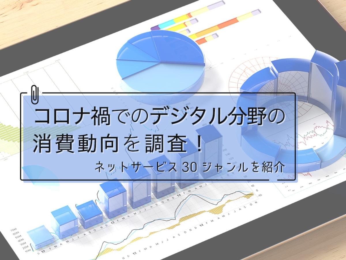 「コロナ禍におけるデジタル分野の消費動向とは?ネットサービス30ジャンルを紹介」の見出し画像