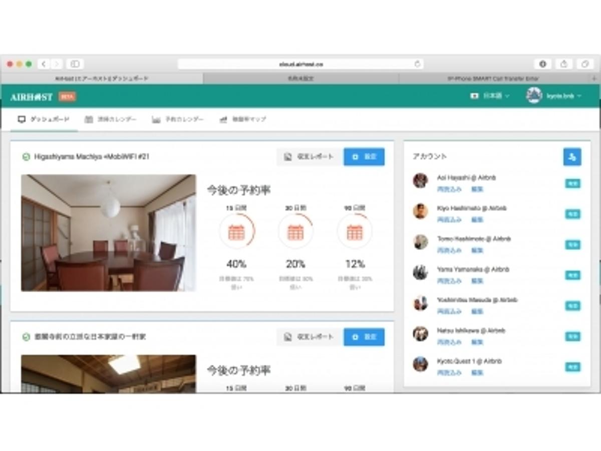 「【新サービス】Airbnb ホスト向け Web サービスをリリース - 「メッセージ送信」・「清掃手配」・「割引」を自動化! 「収支レポート」など多くの機能を提供!」の見出し画像