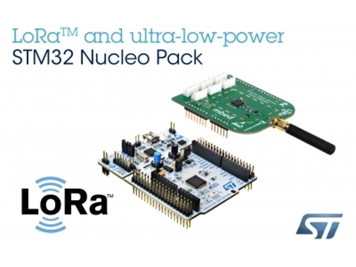 「LoRa(TM)に対応したIoT機器の開発を促進するSTM32搭載開発キットを発表」の見出し画像