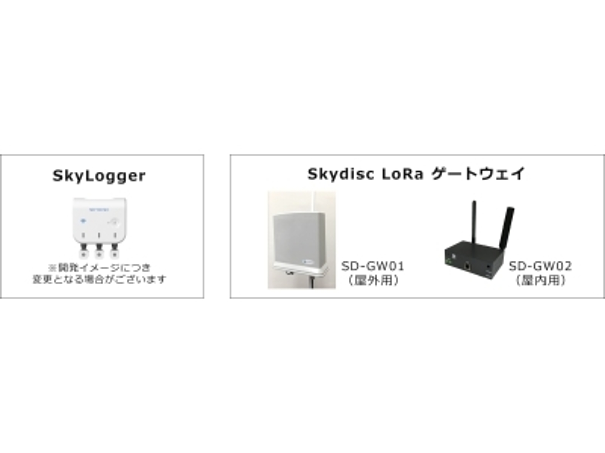 「西松建設とスカイディスク,LoRa内臓着脱式センサデバイス「SkyLogger」の通信範囲・センシングデータ取得の実証実験を都内で実施」の見出し画像