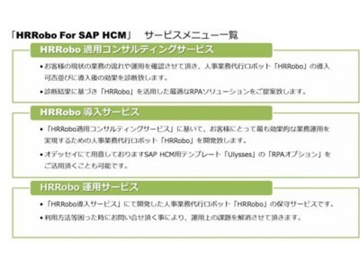 「オデッセイ、RPAテクノロジーズ、SAPジャパン、国内初!人事部門の生産性を飛躍的に向上させるRPAソリューション「HRRobo For SAP(R) HCM」を提供開始」の見出し画像