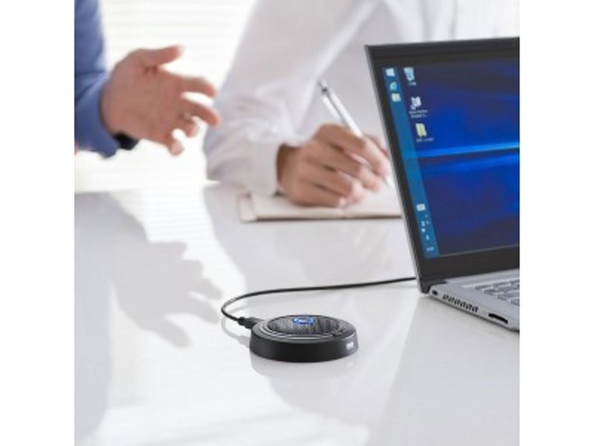 「多人数でのWEB会議におすすめ!広範囲の音を拾える高感度USBマイクを発売。」の見出し画像