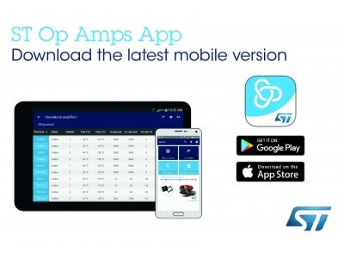 「オペアンプの選定・設計用のスマートフォン / タブレット向けアプリの最新版を発表」の見出し画像