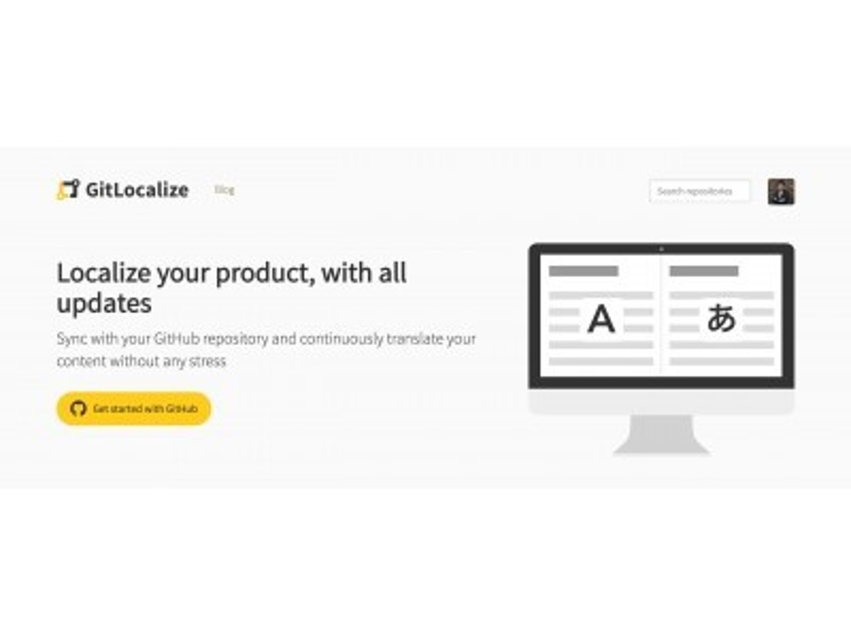「プロダクトの多言語化ツール「GitLocalize」が「GitHub Marketplace」にて初のローカライゼーションアプリとして提供開始」の見出し画像