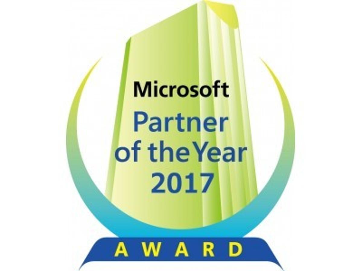 「マイクロソフト ジャパン パートナー オブ ザ イヤー 2017 を受賞」の見出し画像