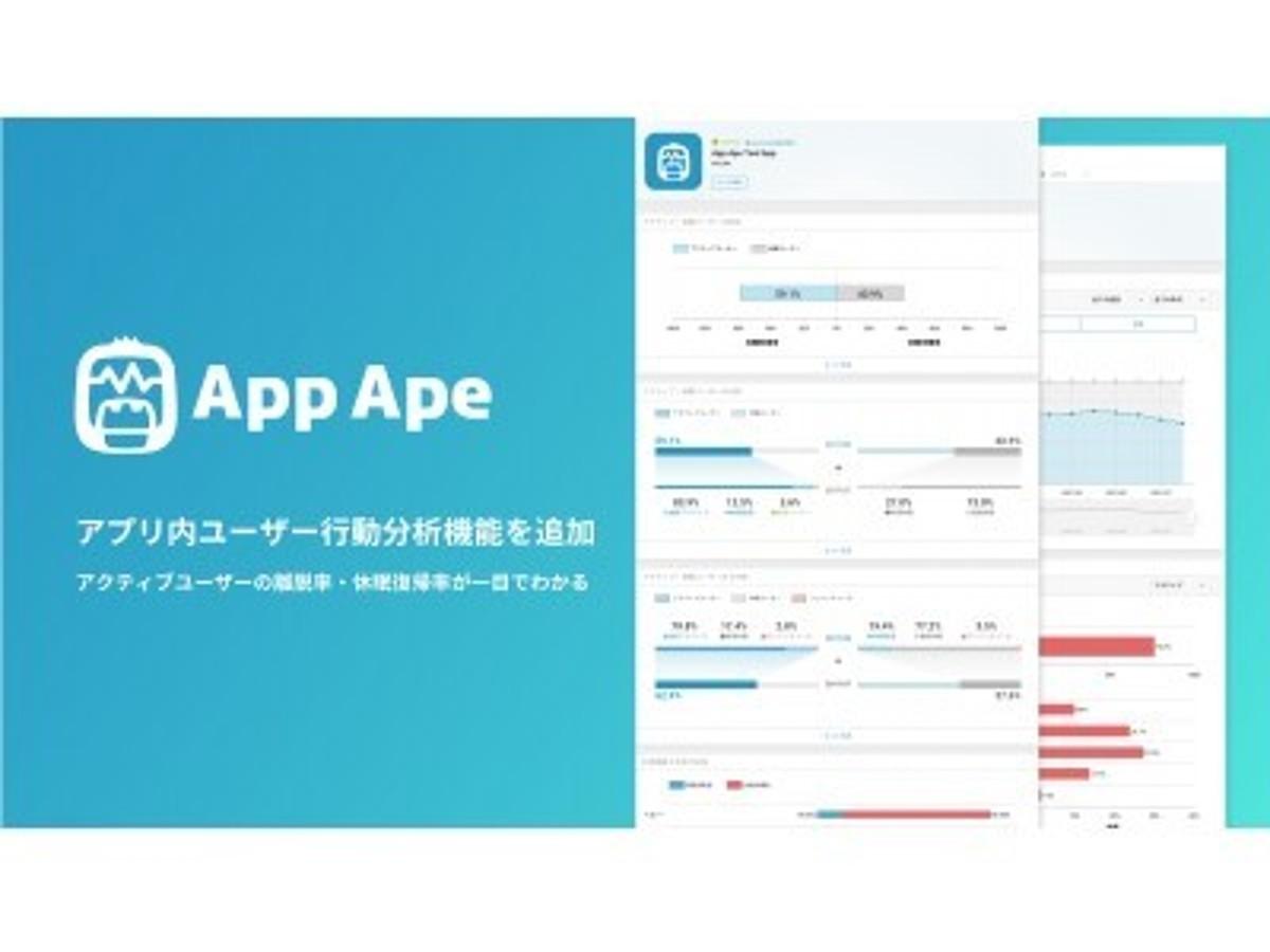 「スマホアプリ分析の「App Ape」、ユーザー行動分析機能を追加」の見出し画像