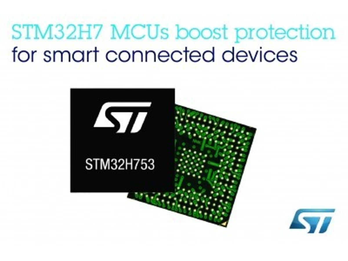 「STマイクロエレクトロニクスのSTM32H7マイコンが、ネットワーク接続機器の保護を強化するArm社のPlatform Security Architectureに対応」の見出し画像