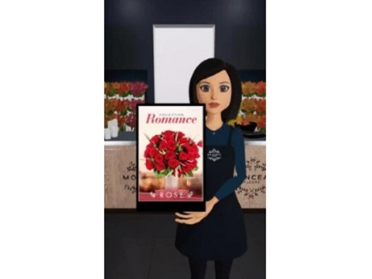 「あの!パリのフラワーショップ「MONCEAU FLEURS(モンソーフルール)」銀座マロニエゲート店がエレーヌ(AIスタッフ)を採用!」の見出し画像