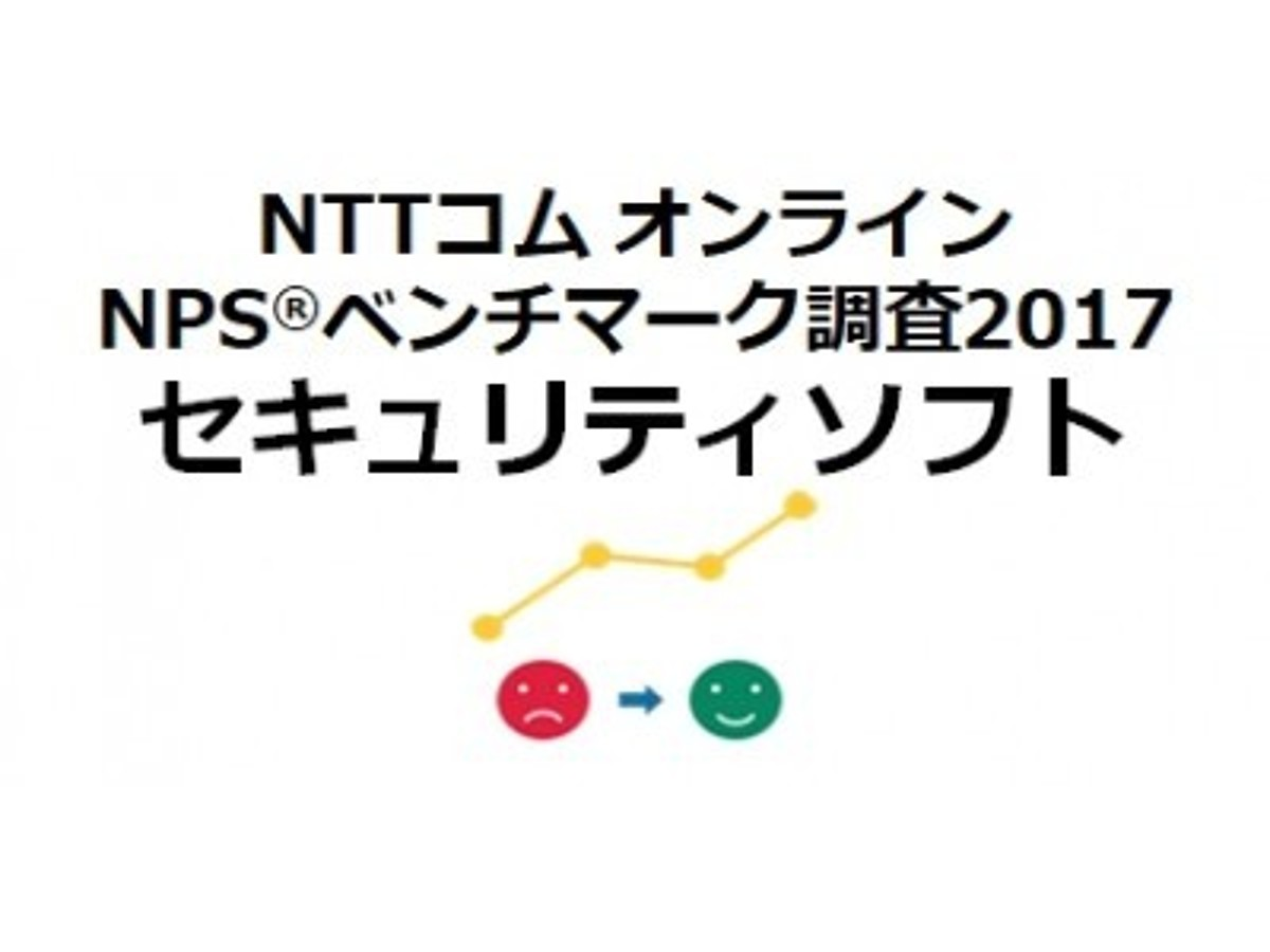 「NTTコム オンライン、セキュリティソフトを対象にしたNPS(R)ベンチマーク調査2017結果を発表」の見出し画像