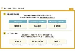 ドキュメント「MO Liteアンケートサービス概要資料」の説明画像